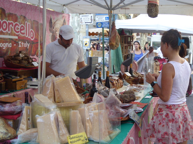 Fromage stall at St Remy fete du vin