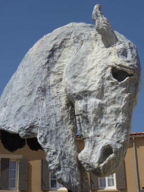 Miramas horse sculpture