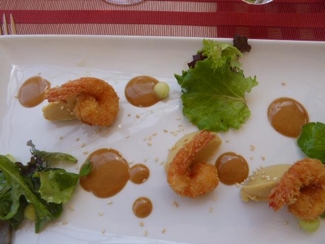 tempura shrimp starter