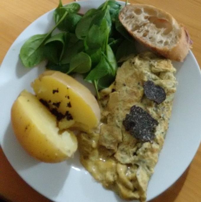 Truffle omelette