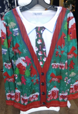 A cheery Christmas shirt.