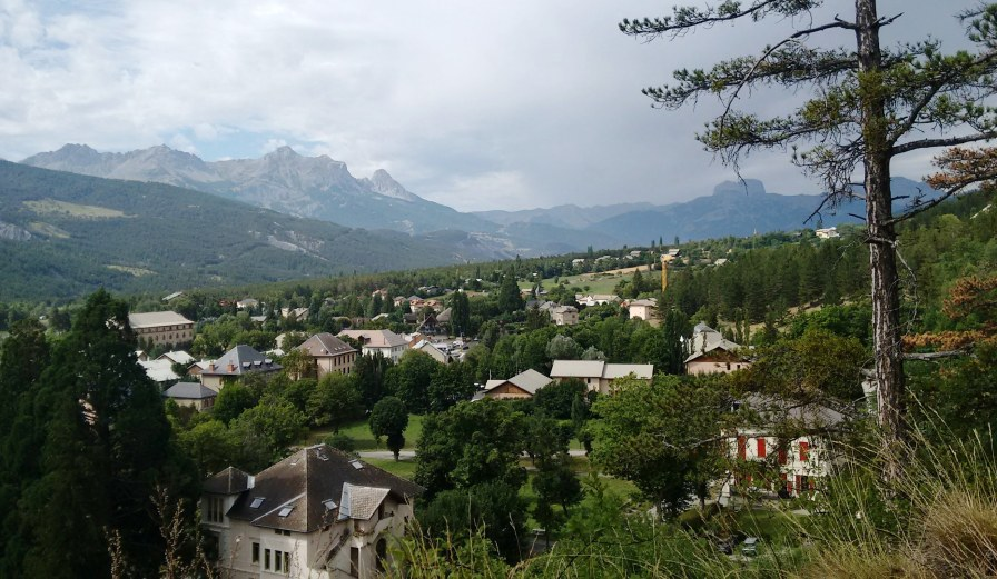 A view above Jausiers, near Barcelonnette..