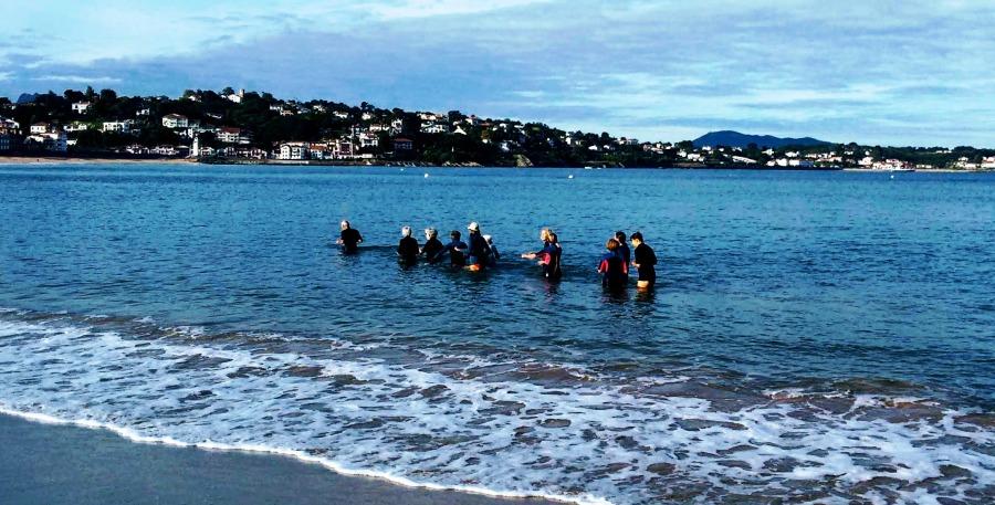 St J de Luz Ocean walkers