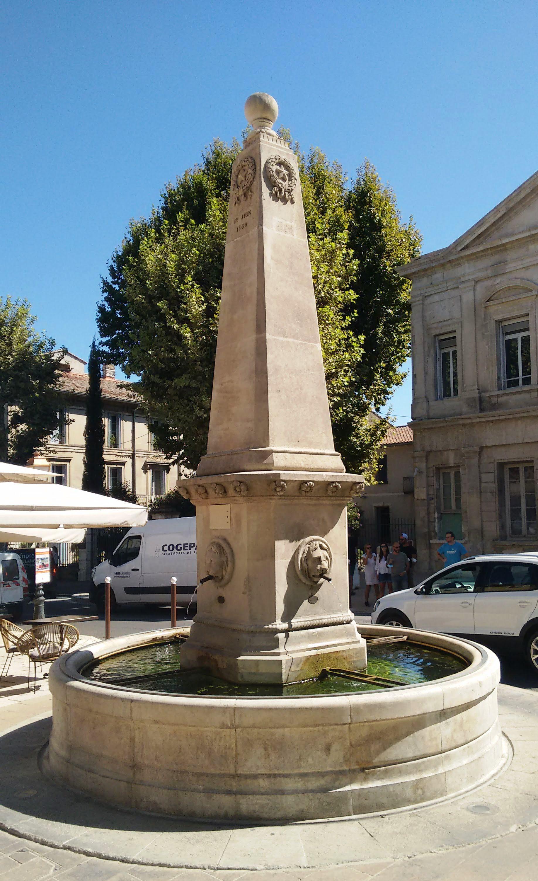 Cafe de la Fontaine fountain
