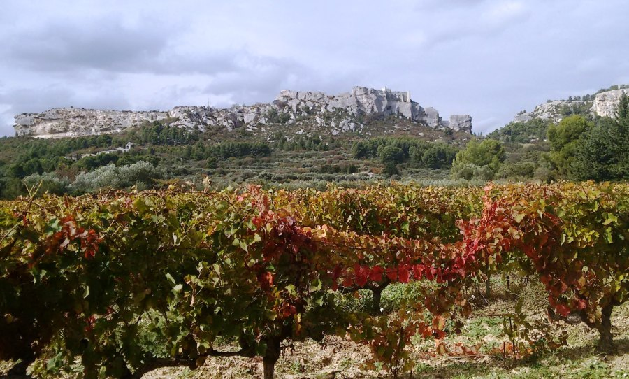 Les Baux from Domaine Ste. Berthe
